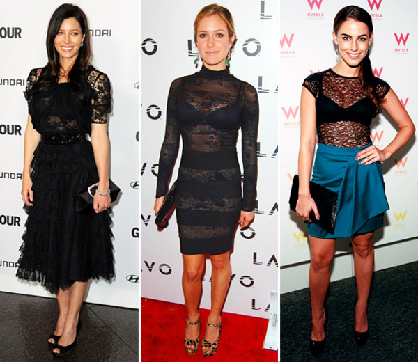 black see through lace dresses