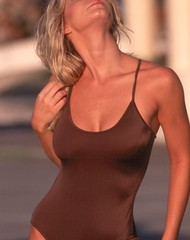 Brown One Piece Swim Suit