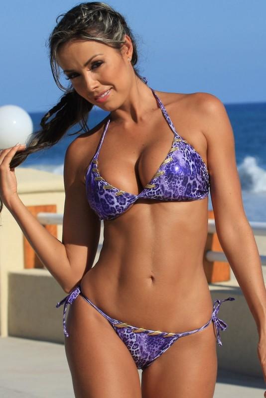 Purple Python Tie Swimwear