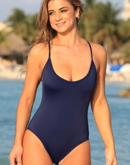 Navy Dip One Piece