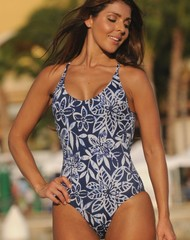 Vintage Blue Dip One Piece