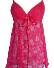 Lace Lingerie Sleepwear Sleep Dress Set With G-String